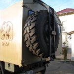 Reserveradhalter an Unimog U1300L