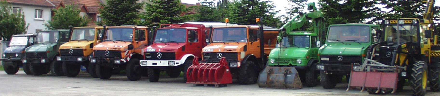 Unimog U406 , Unimog U1000 , Unimog , U1800 , Unimog U1600 , Unimog U1300L , Unimog U1400 , Unimog U406 , Unimog U1000 , MB-trac 900 turbo